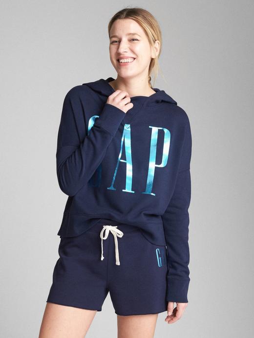 lacivert Logolu fransız havlu kumaşı sweatshirt