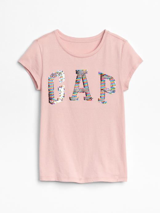 Kız Çocuk pembe Pullu logolu t-shirt