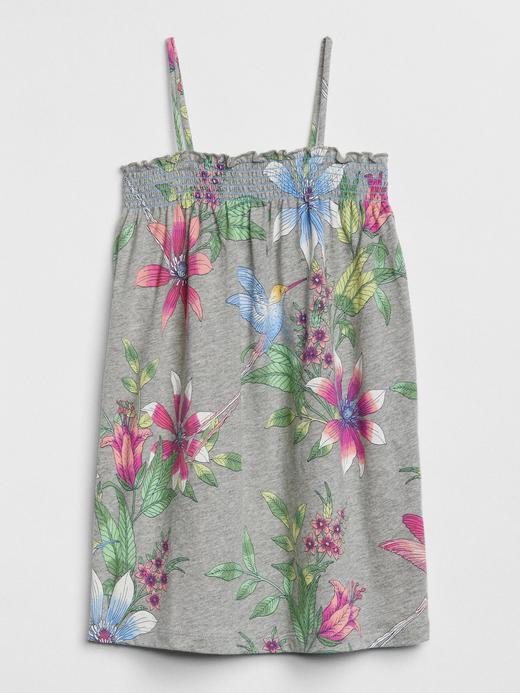 Askılı kare yaka desenli elbise