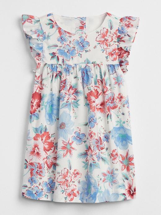 Çiçekli fırfırlı elbise