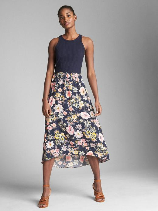 Fit and flare midi elbise