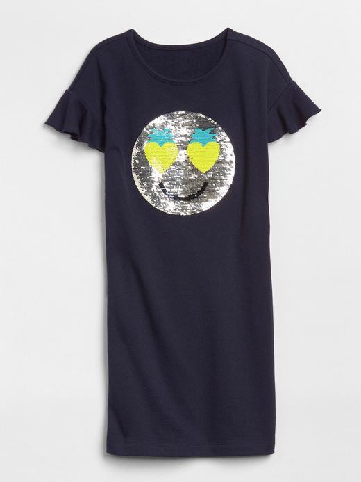 Baskılı pullu t-shirt elbise
