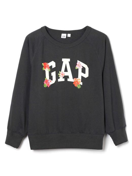 Çiçekli logolu sweatshirt
