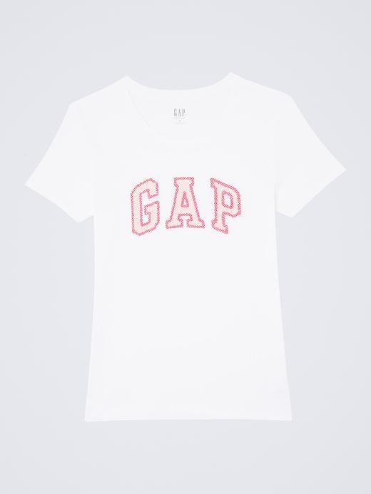 Beyaz Logolu kısa kollu t-shirt