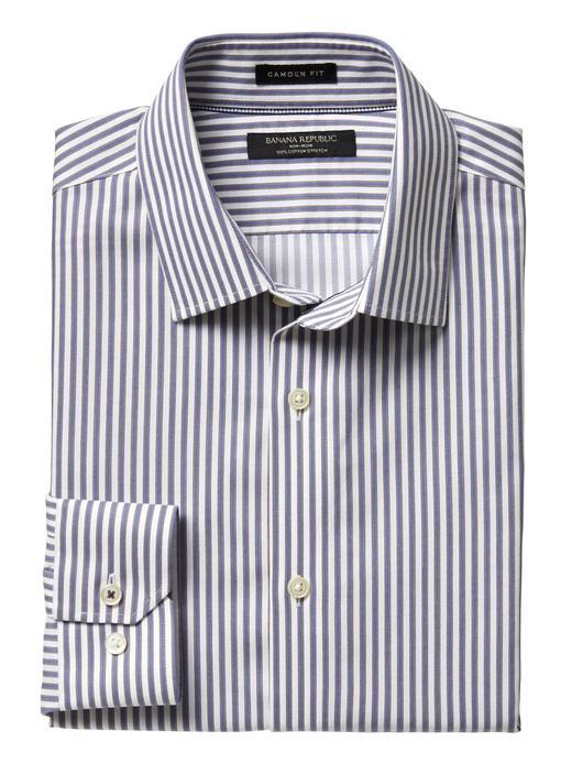 Camden Standard-Fit Ütü Gerektirmeyen Streç Çizgili Gömlek