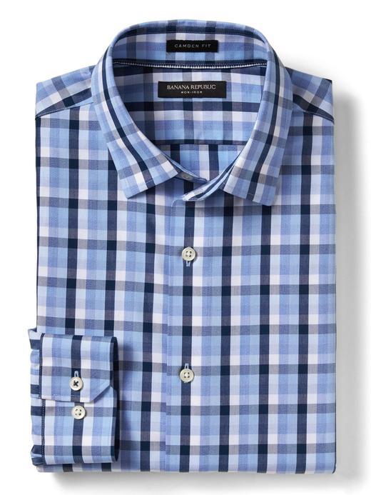Camden Standard-Fit Ütü Gerektirmeyen Ekose Gömlek