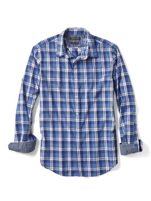 kırçıllı mavi Grant-Fit Mavi Ekose Gömlek
