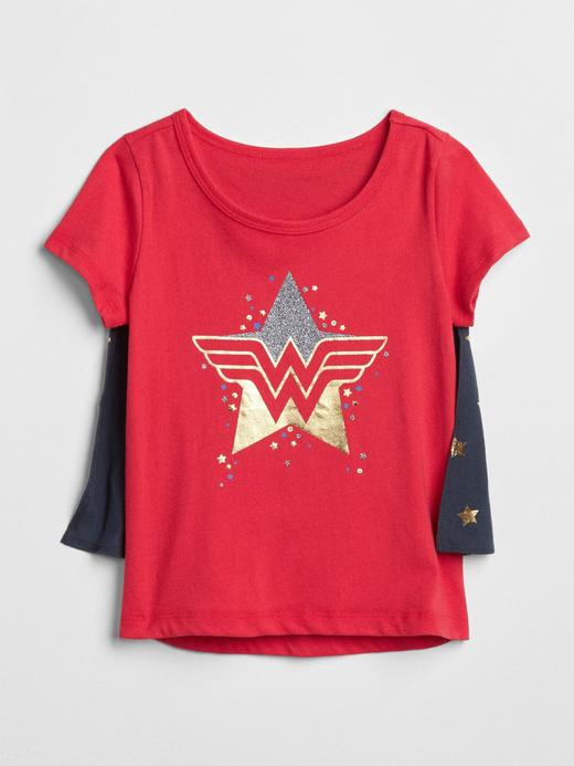 GapKids | Wonder Woman™ çıkarılabilir pelerinli t-shirt