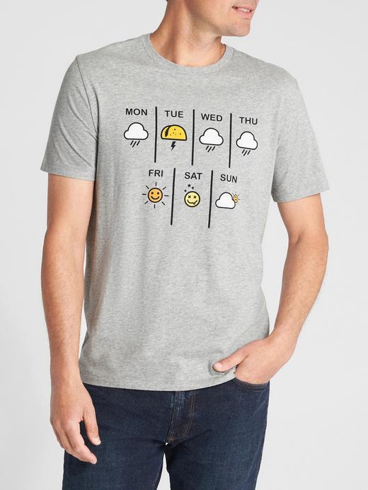 Baskılı sıfır yaka kısa kollu t-shirt