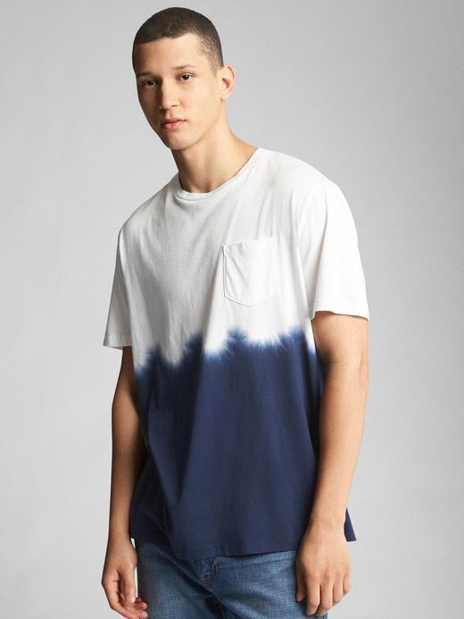 Cepli Sıfır Yaka T-Shirt