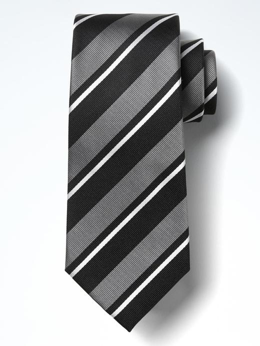 Çizgili ipek kravat