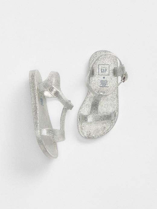 Pırıltılı jel sandalet