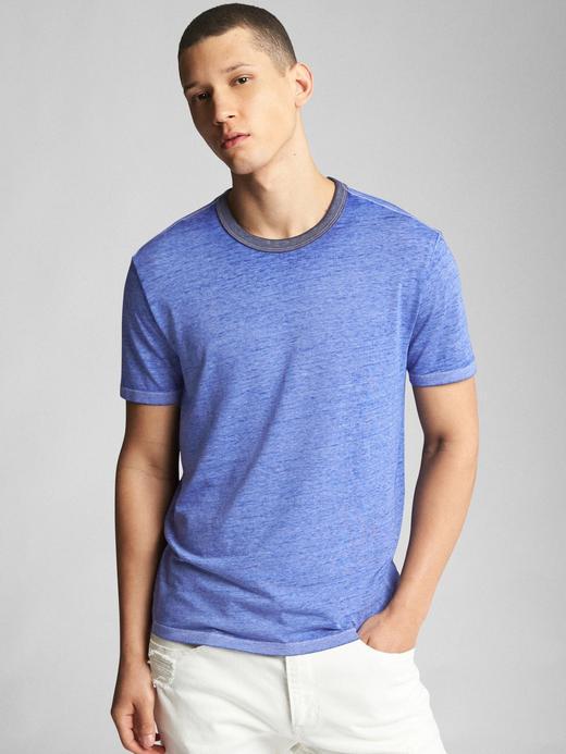 mavi Kısa kollu sıfır yaka t-shirt