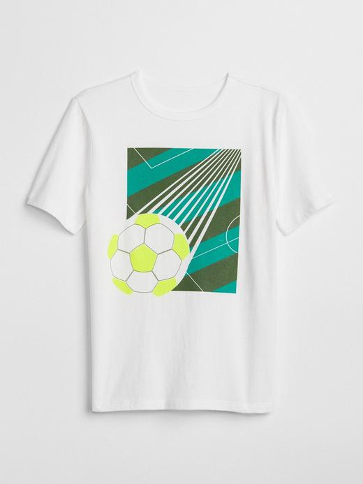 Erkek Çocuk beyaz Kısa kollu baskılı t-shirt