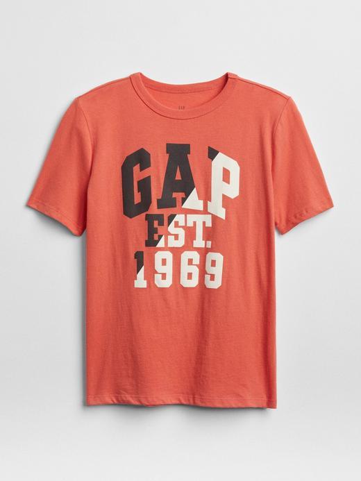 Erkek Çocuk Turuncu Logolu kısa kollu t-shirt
