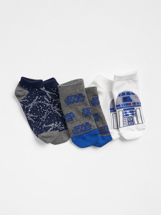 Erkek Çocuk kırık beyaz GapKids | Star Wars™ 3lü desenli çorap