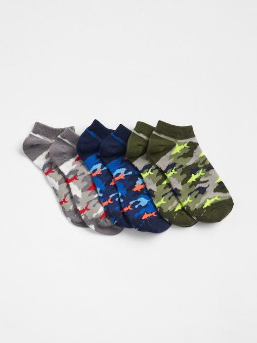 3lü kamuflaj desenli çorap