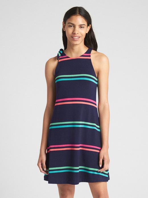 çok renkli çizgili Softspun kolsuz elbise