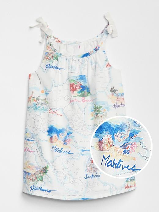 babyGap harita desenli elbise