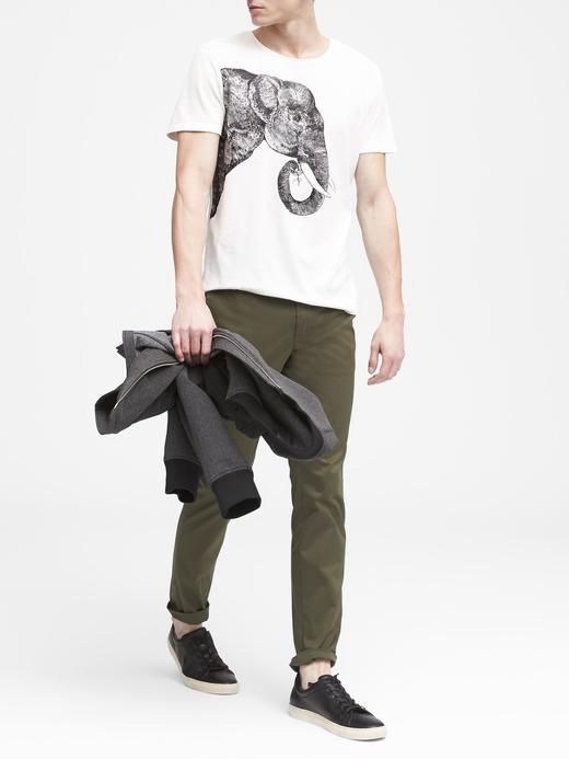 Baskılı Sıfır Yaka T-Shirt