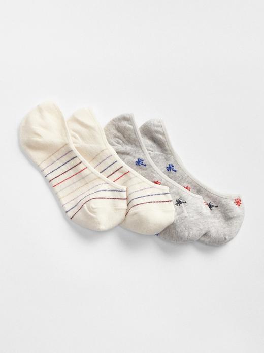 Kadın Çok Renkli 2'li Babet Çorabı
