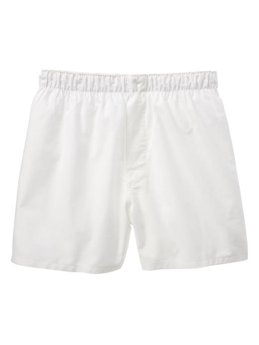 Erkek beyaz Düz renk boxer