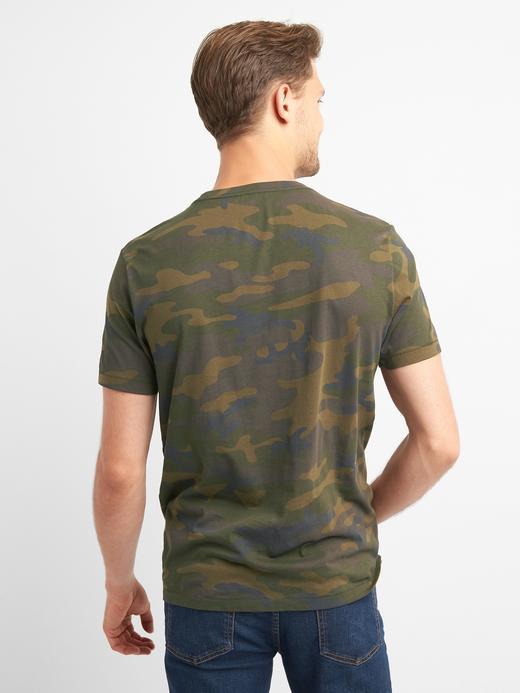 Gap Logo Kamuflaj T-Shirt