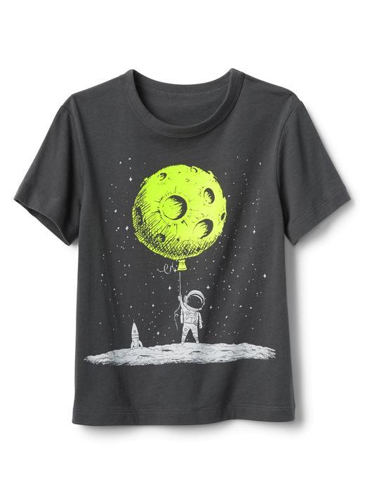 Bebek Siyah Grafik desenli kısa kollu t-shirt