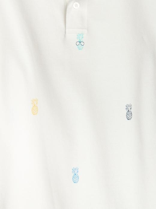 Desenli polo t-shirt