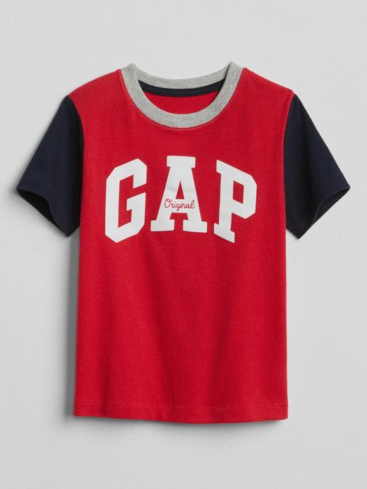 Bebek Kırmızı Logolu Kısa Kollu T-Shirt
