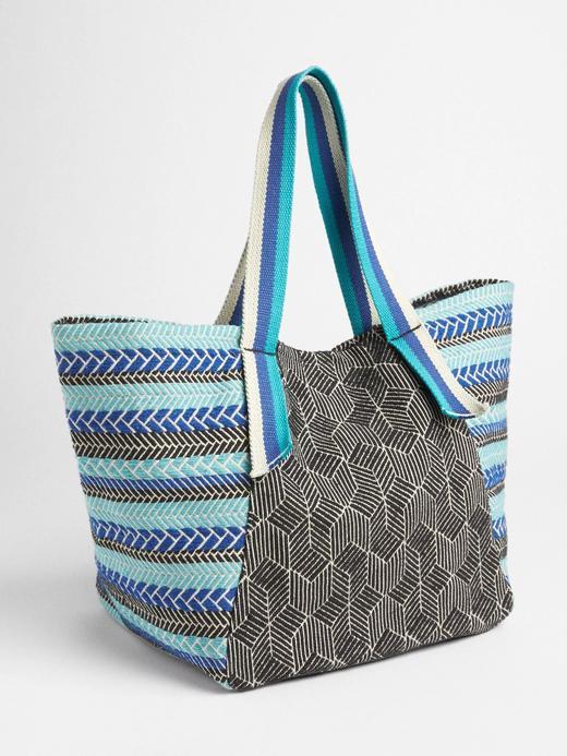 Desenli plaj çantası