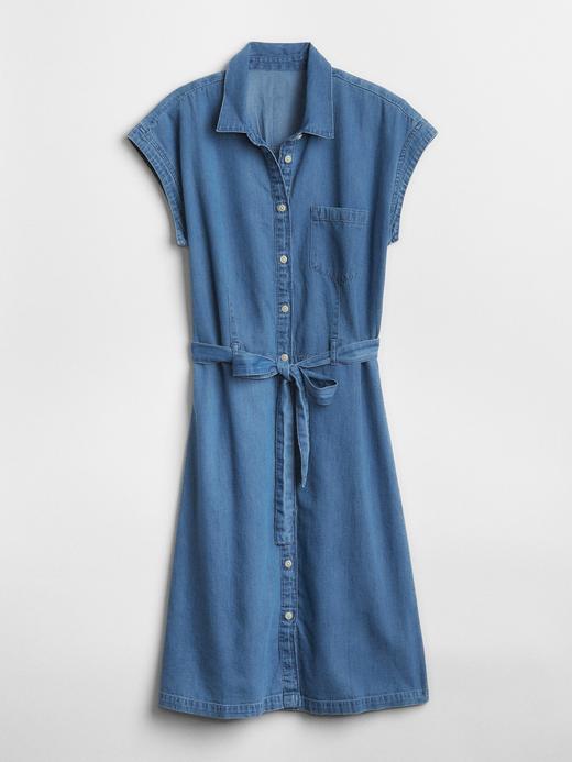 Denim Gömlek Elbise