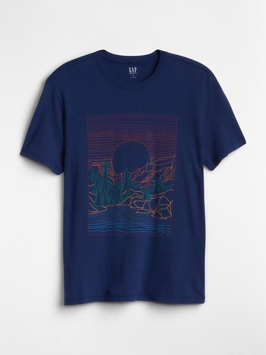 Kısa Kollu Baskılı Sıfır Yaka T-Shirt