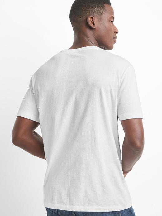 Logolu Sıfır Yaka T-Shirt