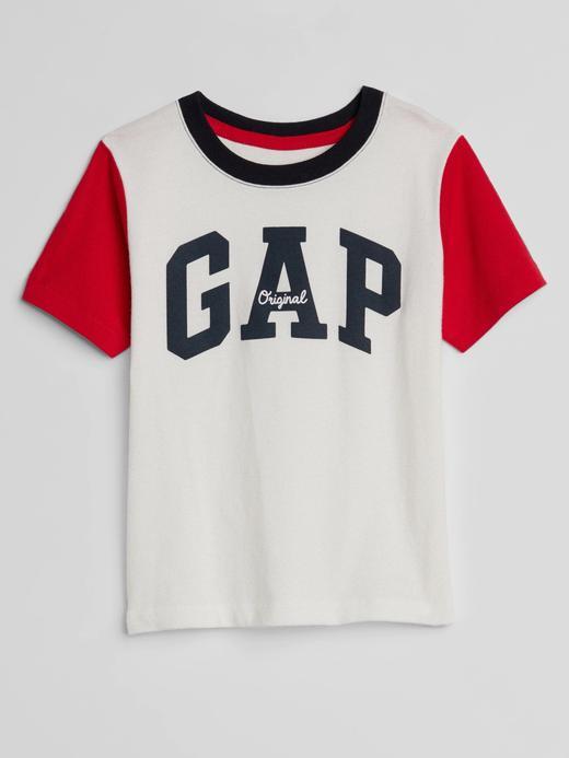 Bebek kırık beyaz Logolu Kısa Kollu T-Shirt