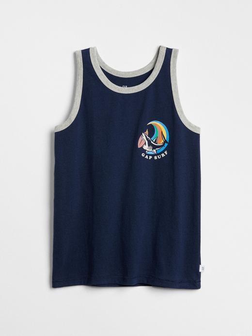 Erkek Çocuk mavi Baskılı Atlet