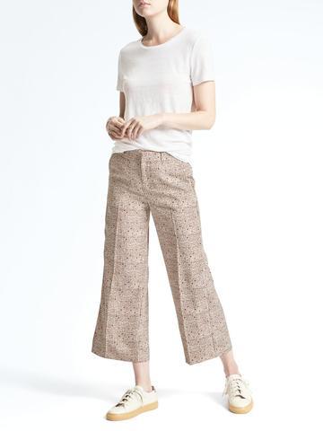 Kadın ten Blake Fit Bol Paçalı Desenli Kısa Pantolon
