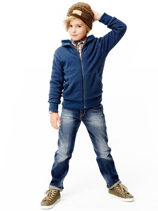 Erkek Çocuk kahverengi Uzun Kollu Ekose Gömlek