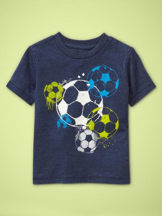 lacivert Baskılı Kısa Kollu T-shirt