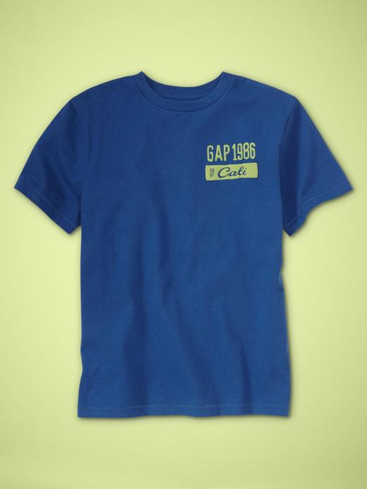 mavi Grafik desenli kısa kollu t-shirt