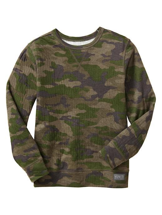 Kamuflaj Desenli Uzun Kollu T-Shirt