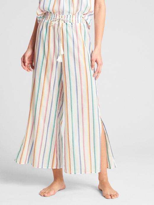 Kadın beyaz Dreamwell Desenli Bol Paça Pijama Altı