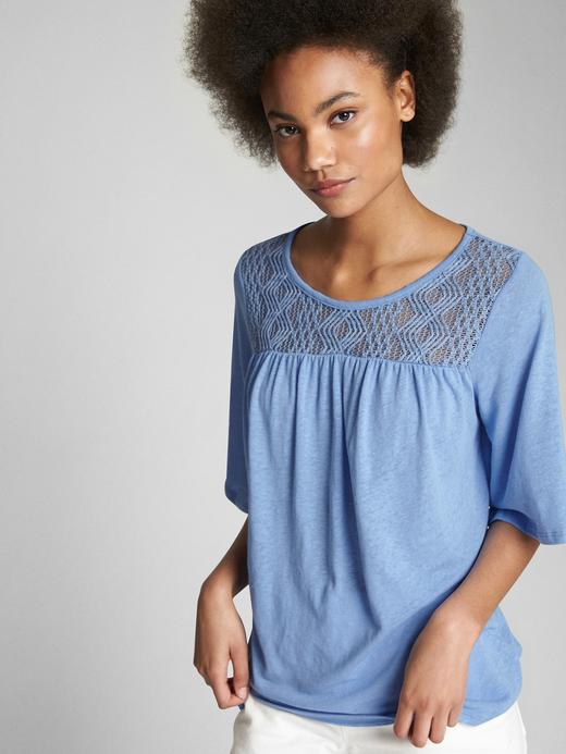 Kadın açık mavi Kadın Kısa Kollu Bluz