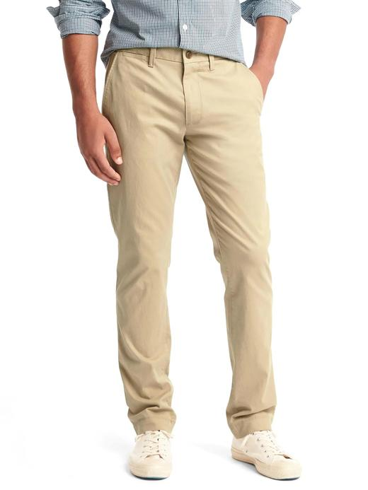 Erkek bej Slim Fit Gap Flex Khaki Pantolon