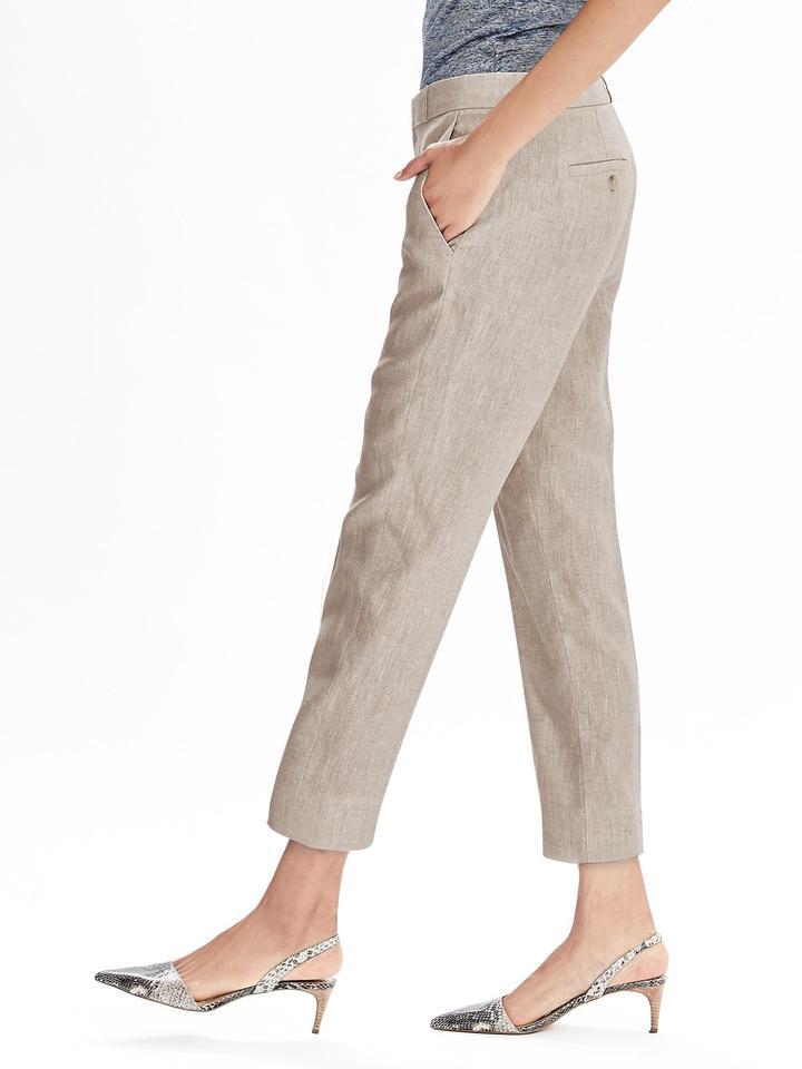Avery-Fit bilekte Biten Keten Pantolon
