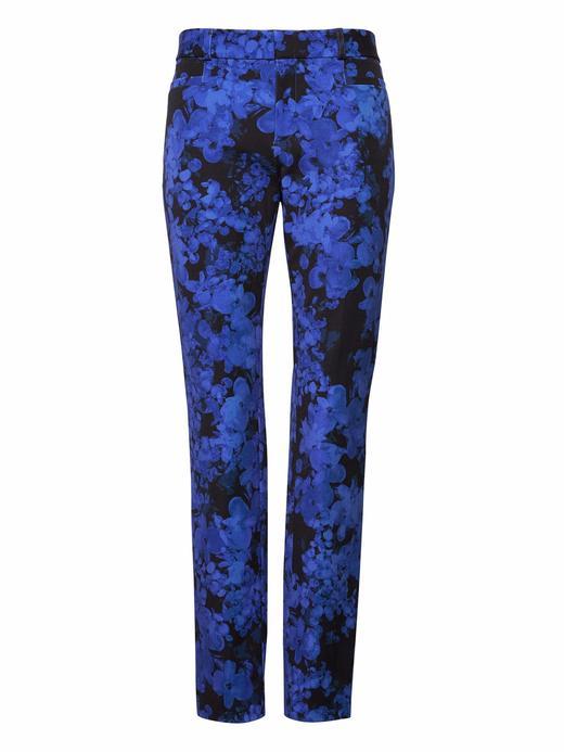 Kadın mavi desenli Sloan Skinny-Fit Çiçekli Pantolon