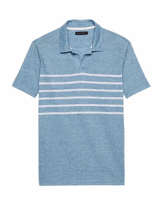 Vintage Çizgili Polo T-Shirt
