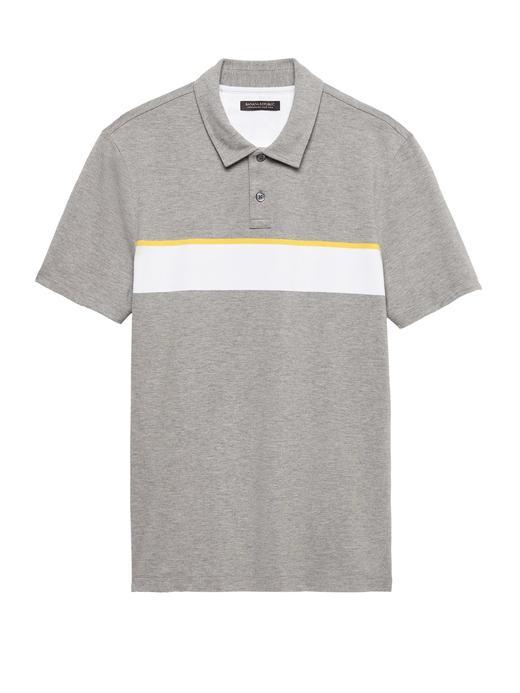 Don't-Sweat-It Çizgili Polo Yaka T-Shirt