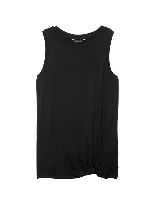 Streç-Modal Kolsuz Bluz