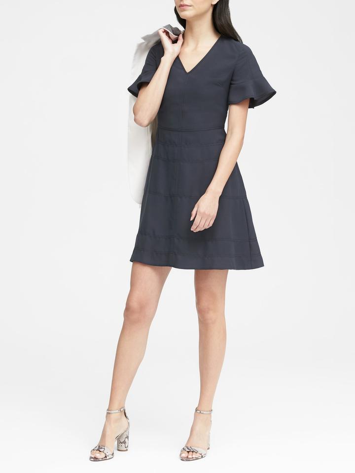 Kadın lacivert Kısa Kollu Elbise
